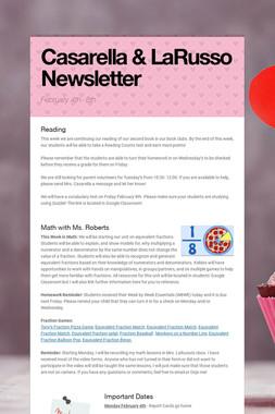 Casarella & LaRusso Newsletter