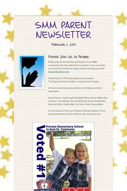 SMM PARENT NEWSLETTER