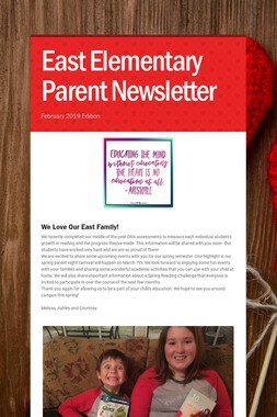 East Elementary Parent Newsletter