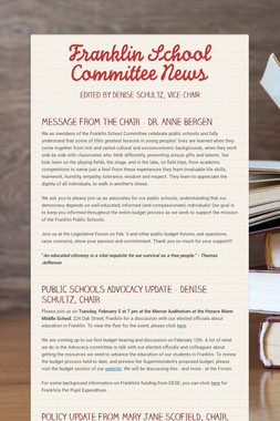 Franklin School Committee News