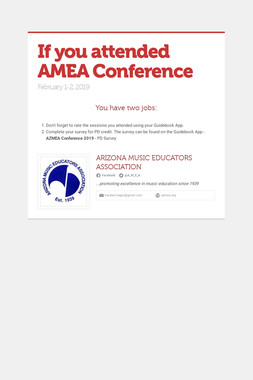 If you attended AMEA Conference