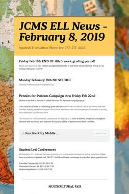 JCMS ELL News - February 8, 2019