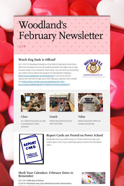Woodland's February Newsletter