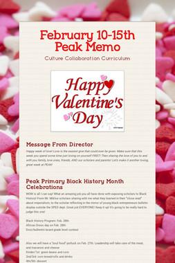 February 10-15th Peak Memo