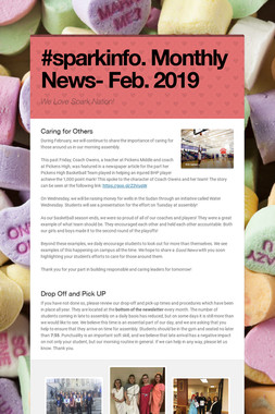 #sparkinfo. Monthly News- Feb. 2019