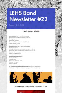 LEHS Band Newsletter #22