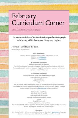 February Curriculum Corner