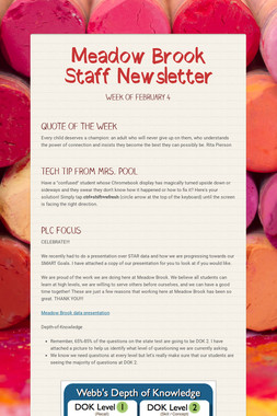 Meadow Brook Staff Newsletter