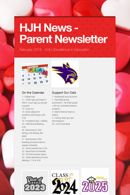 HJH News - Parent Newsletter
