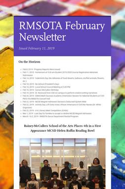 RMSOTA February Newsletter