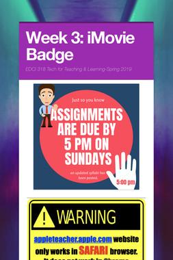 Week 3: iMovie Badge