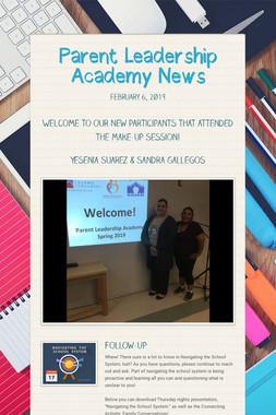 Parent Leadership Academy News