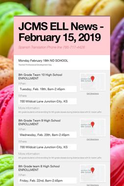 JCMS ELL News - February 15, 2019