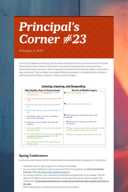 Principal's Corner #23