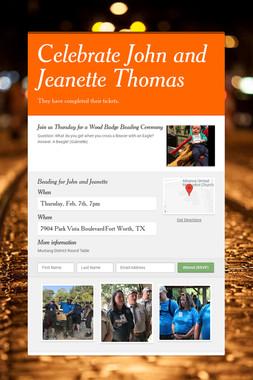 Celebrate John and Jeanette Thomas