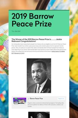 2019 Barrow Peace Prize