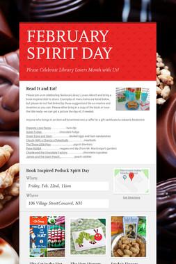 FEBRUARY SPIRIT DAY