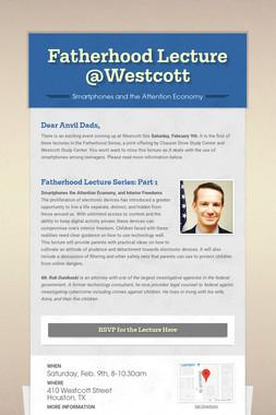 Fatherhood Lecture @Westcott