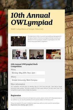 10th Annual OWLympiad