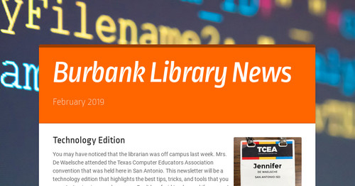 Burbank Library News | Smore Newsletters