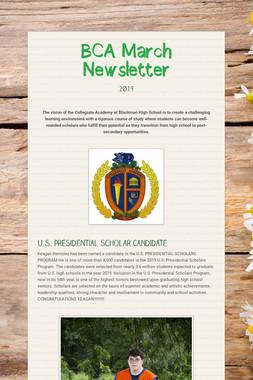 BCA March Newsletter