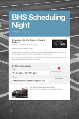 BHS Scheduling Night