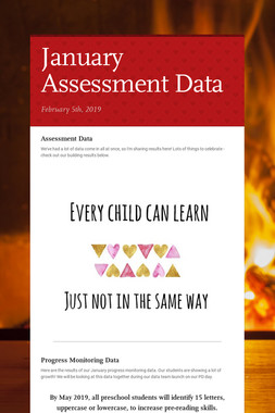 January Assessment Data