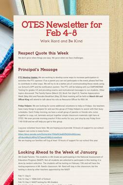 OTES Newsletter for Feb 4-8