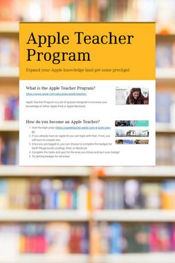Apple Teacher Program