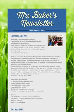 Mrs Baker's Newsletter