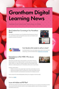 Grantham Digital Learning News