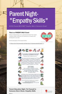 "Parent Night- ""Empathy Skills"""
