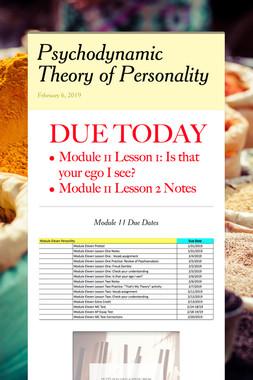 Psychodynamic Theory of Personality