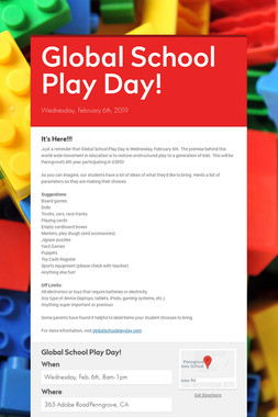 Global School Play Day!