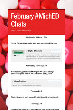 February #MichED Chats