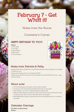 February 7 - Get Whitt it!