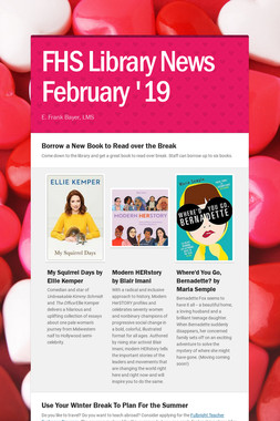 FHS  Library News  February '19