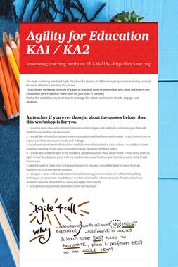 Agility for Education KA1 / KA2