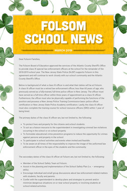 Folsom School News