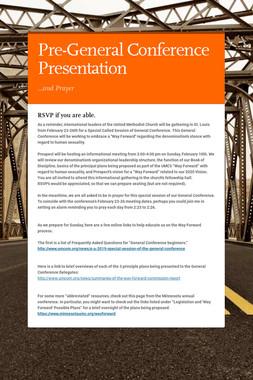 Pre-General Conference Presentation
