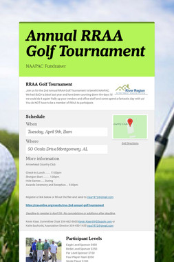 Annual RRAA Golf Tournament