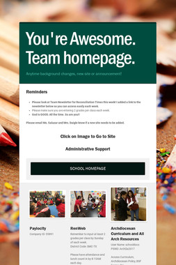 You're Awesome. Team homepage.
