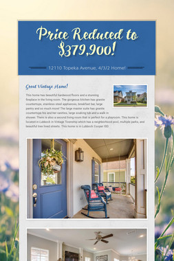 Price Reduced to $379,900!