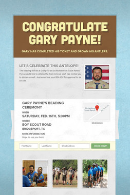 Congratulate Gary Payne!
