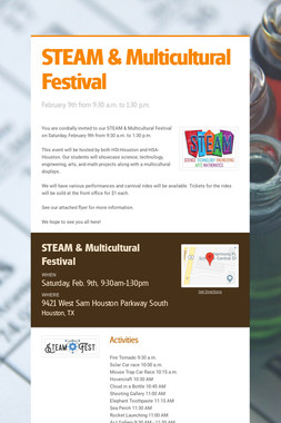 STEAM & Multicultural Festival