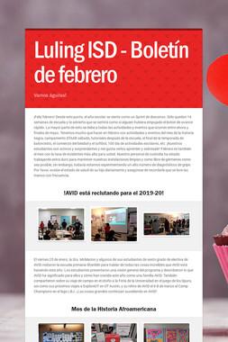 Luling ISD - Boletín de febrero