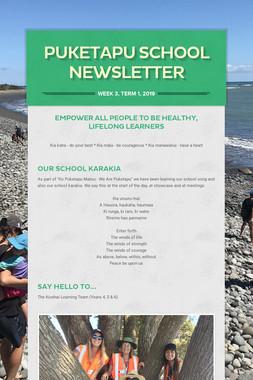 Puketapu School Newsletter