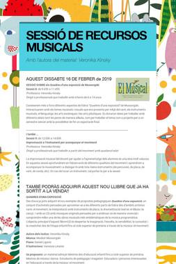 SESSIÓ DE RECURSOS MUSICALS