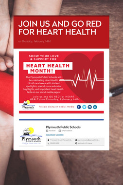 JOIN US AND GO RED FOR HEART HEALTH