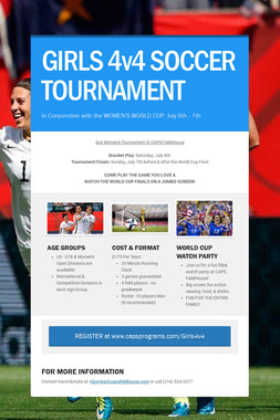 GIRLS 4v4 SOCCER TOURNAMENT